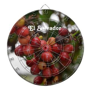 El Salvador Coffee Beans Dartboard With Darts