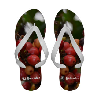 El Salvador Coffee Beans Flip Flops