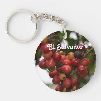 El Salvador Coffee Beans Key Ring