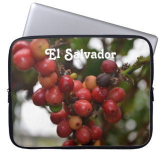 El Salvador Coffee Beans Laptop Computer Sleeve