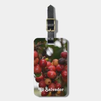 El Salvador Coffee Beans Luggage Tag