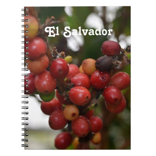 El Salvador Coffee Beans Spiral Note Books