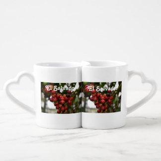 El Salvador Coffee Beans Couple Mugs