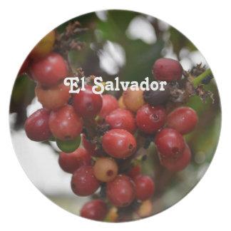 El Salvador Coffee Beans Plates