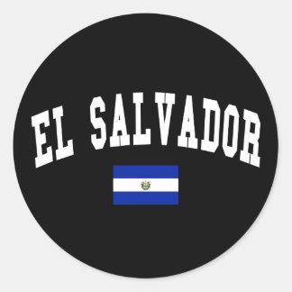 El Salvador College Style Sticker