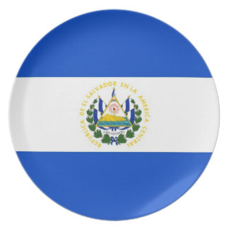 el salvador country flag plate