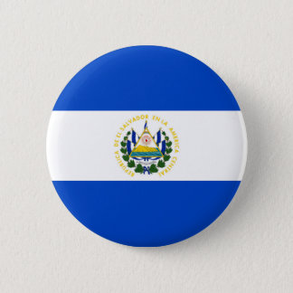 El Salvador country long flag nation symbol republ 6 Cm Round Badge