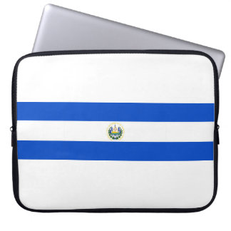 El Salvador country long flag nation symbol republ Laptop Sleeve