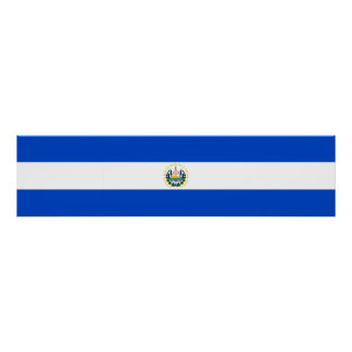 El Salvador country long flag nation symbol republ Poster