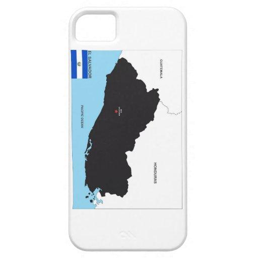 el salvador country political map flag iPhone 5 case