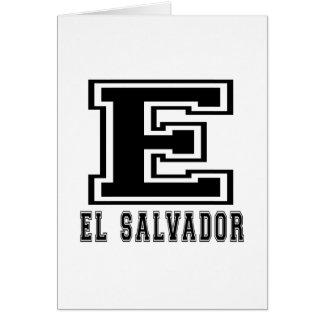 El Salvador Designs Greeting Card