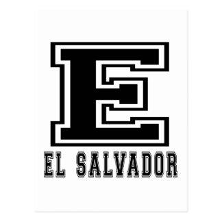 El Salvador Designs Postcard