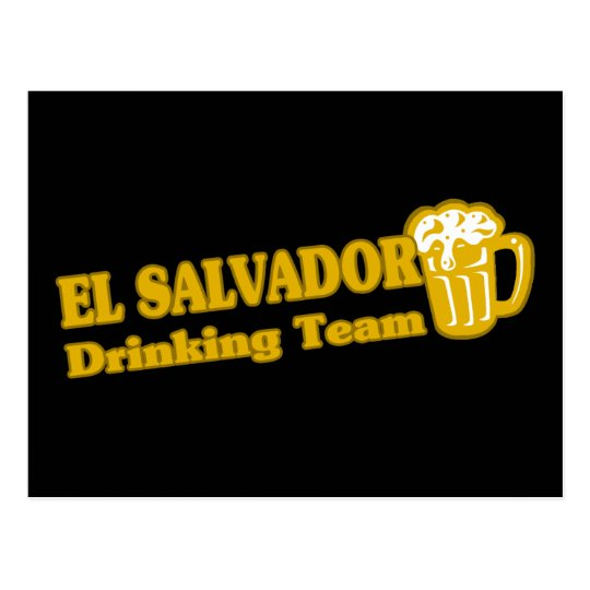 El Salvador Drinking Team Postcard