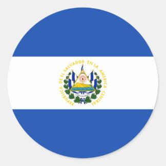 El Salvador, El Salvador Round Sticker