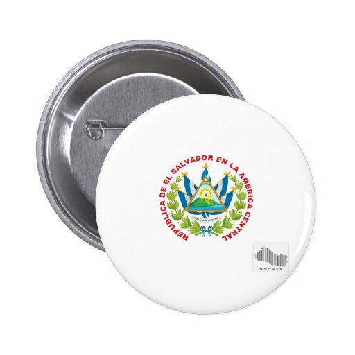 el salvador emblem and barcode pin