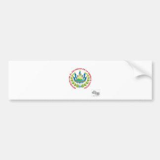 el salvador emblem and barcode bumper sticker