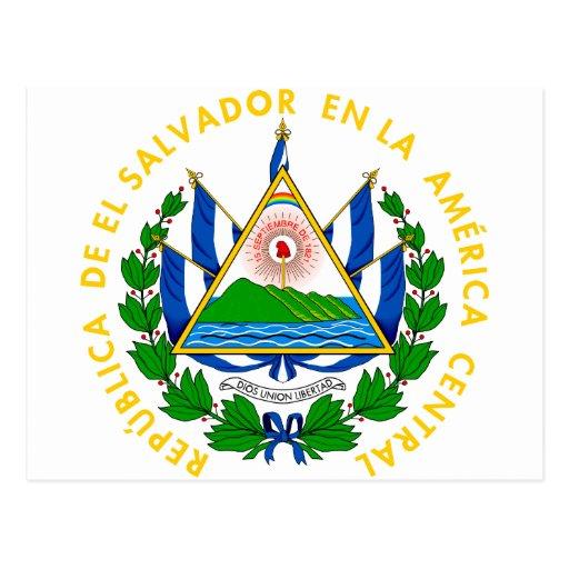 el salvador emblem post cards