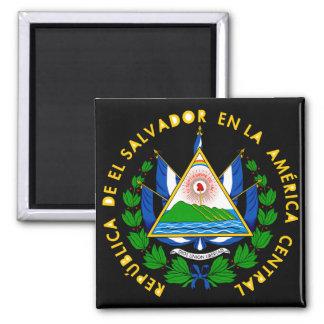 el salvador emblem square magnet