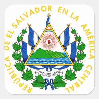 el salvador emblem square sticker
