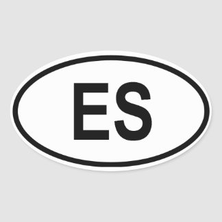 """El Salvador """"ES"""" Oval Sticker"""