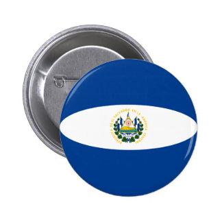 El Salvador Fisheye Flag Button