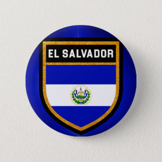 El Salvador Flag 6 Cm Round Badge