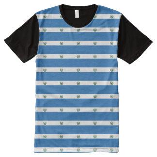 El Salvador Flag All-Over Print T-Shirt