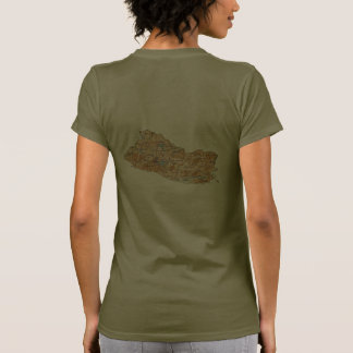 El Salvador Flag and Map dk T-Shirt Shirt