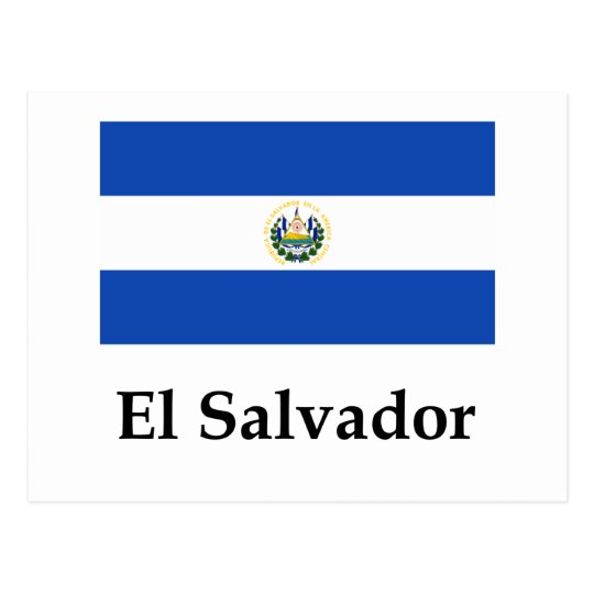 El Salvador Flag And Name Postcard