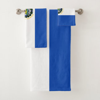 El Salvador Flag Bath Towel Set