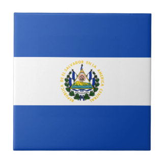 El Salvador Flag Ceramic Tile