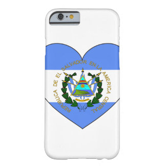El Salvador Flag Heart Barely There iPhone 6 Case