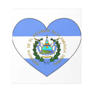 El Salvador Flag Heart Notepad