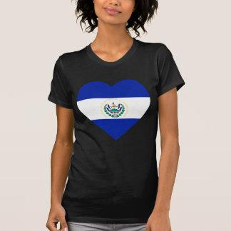 El Salvador Flag Heart T-Shirt