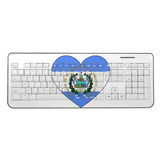 El Salvador Flag Heart Wireless Keyboard