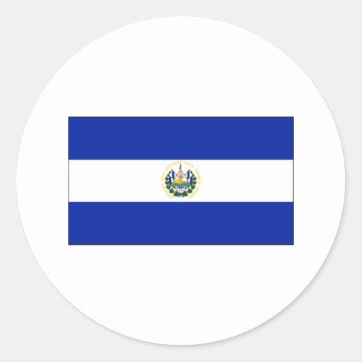 El Salvador FLAG International Round Sticker