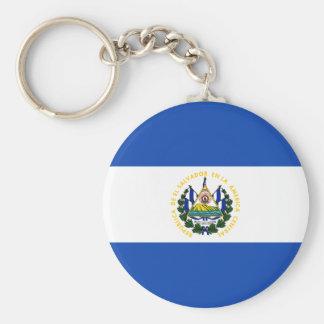 El Salvador Flag Key Ring