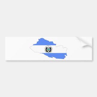 El Salvador Flag Map Bumper Sticker