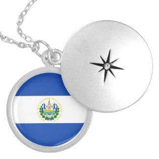 El Salvador Flag Necklace