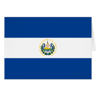 El Salvador Flag Notecard Greeting Cards