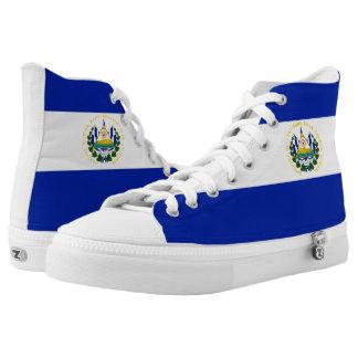 El Salvador Flag Printed Shoes