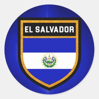 El Salvador Flag Round Sticker