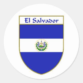 El Salvador Flag Shield Sticker