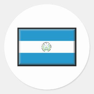 El Salvador Flag Round Stickers