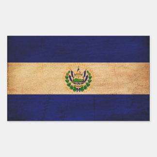 El Salvador Flag Rectangular Stickers
