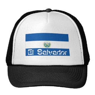 El Salvador flag trucker mesh souvenir hat