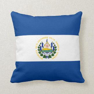 El Salvador Flag x Flag Pillow Throw Cushions