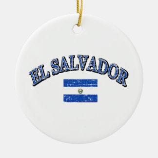 El Salvador football design Ceramic Ornament