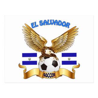 El Salvador Football Designs Postcard