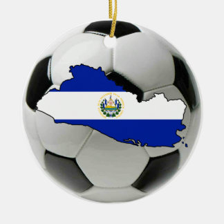 El Salvador football soccer ornament